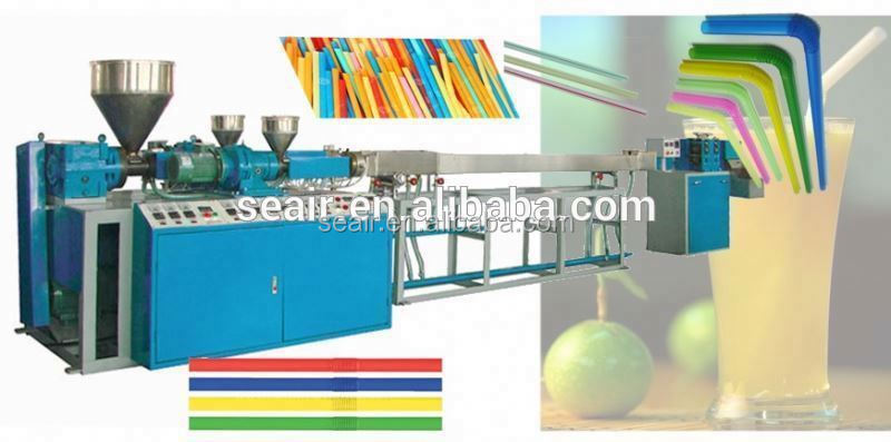 Extrusion plant,disposable used drinking straw making machine