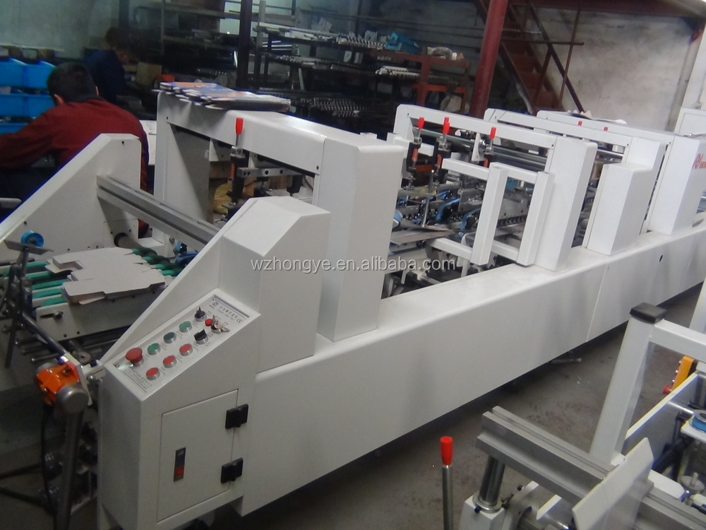ZH-880BFT-H Automatic 3 points Folding Gluing Machine