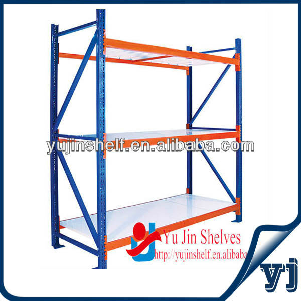 Adjustable warehouse storage metal shelving rack