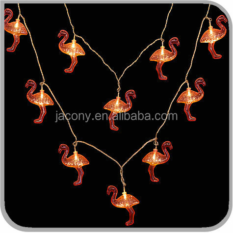outdoor light string pink flamingo for holiday (JL-7560)