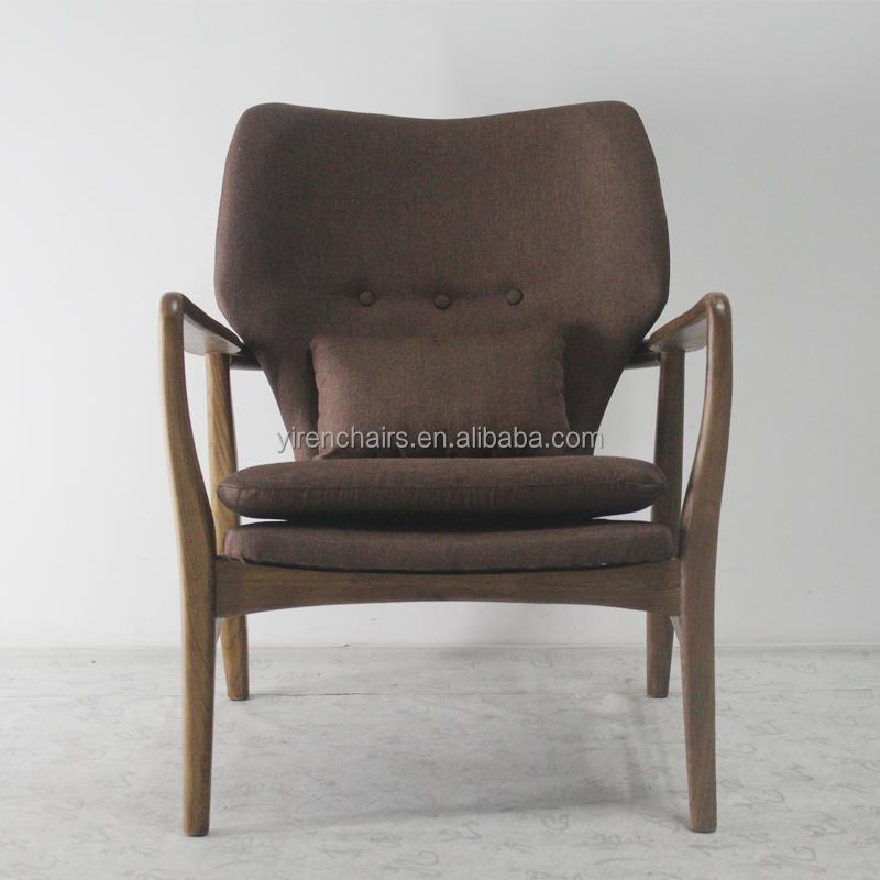 modern design outdoor garden furniture recliner wood chair with soft