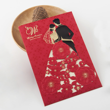 European Design Red Laser Cut Wedding Invitation Cards New Style Cards Wedding