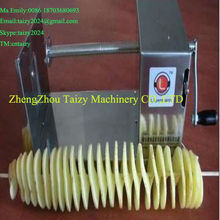 Easy operation potato chips spiral cutter/potato spiral cutter with Stainless steel 0086 18703680693
