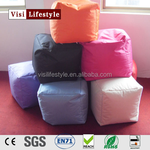 visi classic design cube bean bag seat/ cushion foot rest stool/pouf chair ottoman furniture