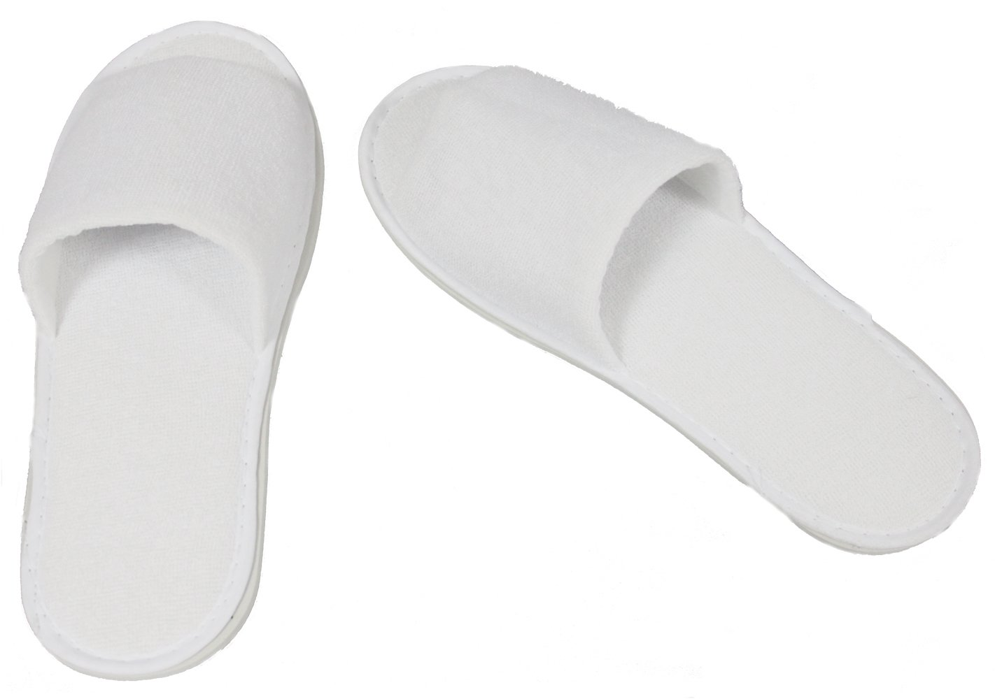 Good Quality Hot Sale cheap disposable White Terry Open Toe Spa Slippers hotel slippers