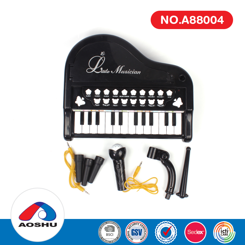 Multifunctional musical instrument 24 keys electric piano toy with microphone