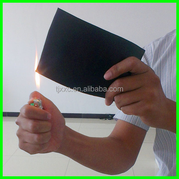 fire proof 1.65 specific gravity cr 6mm rubber sheet