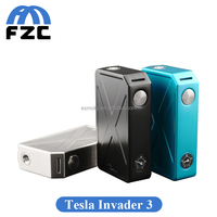 2016 Newest Tesla Invader III 240W Vape Mods 100% Original Tesla Invader 3 Two 18650 Batteries Mod