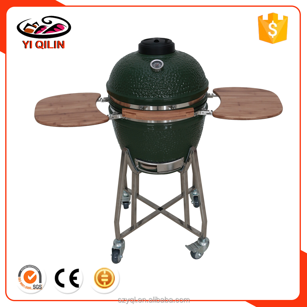 Garden Supplies 24 inch Green Color Egg Shape Big Charcoal BBQ