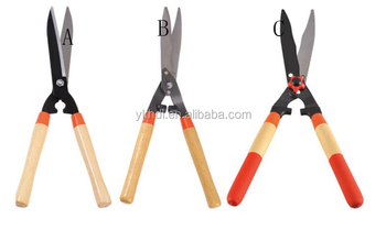 wood handle garden hedge shear pruning shear scissors pruner secateurs hand tool