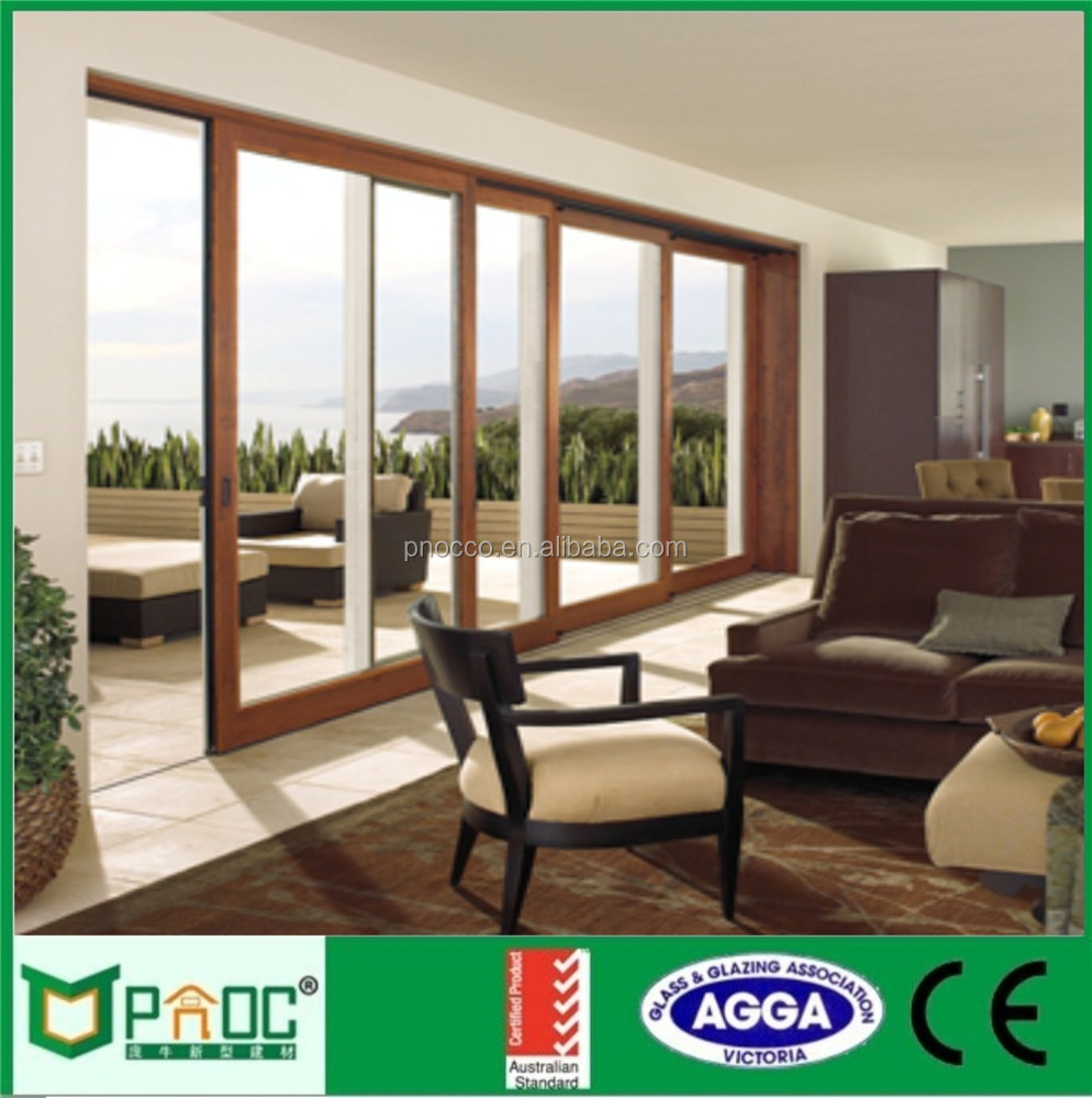Aluminum 3 tracks sliding glass door with sub-frame AS2047 Standard PNOC0006SLD
