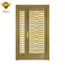 Lowes wrought iron exterior entry doors with glass fashion security luxury stainless steel door JH809