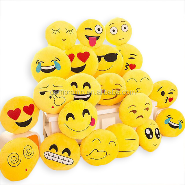 32cmx32cm Cute Emoji Cushion Home Smiley Face Pillow Stuffed Soft Plush Toy