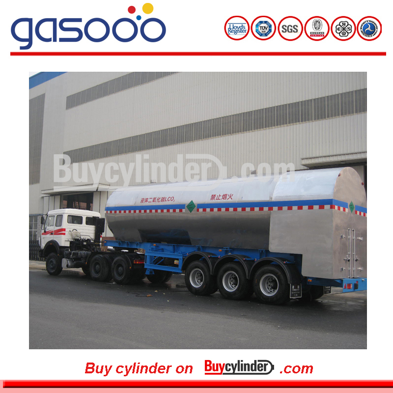 Liquefied Gas Cryogenic Liquid Lorry Tanker