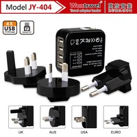 Promotional multi UK EU AU US plug travel charger Universal 3.5a 4 Port USB Charger for iphone/ipad mobile phone Charger Adapter