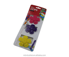3 Set Of Flower Type Plastic Bag Clips