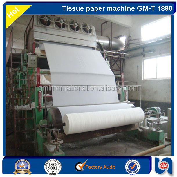 Good quality toilet roll paper recycling machine with embossing roller