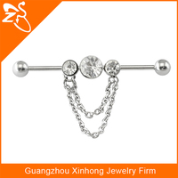 sexy chain crystal nipple rings fake barbell nipple piercing jewelry
