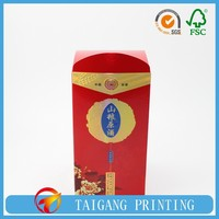 strong recycled cardboard red wine paper box wholesale