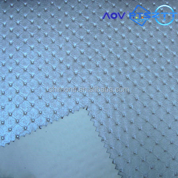 SDT32138 Pearl design Embossed Pattern Printed PVC Leather for Bags and handbags