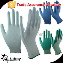 SRSAFETY <span class=keywords><strong>guantes</strong></span> azul pu <span class=keywords><strong>guantes</strong></span> <span class=keywords><strong>de</strong></span> poliuretano <span class=keywords><strong>base</strong></span> agua