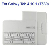 Protective PU Leather Detachable Bluetooth Keyboard Case for Samsung Galaxy Tab 4 10.1 T530