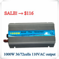PROMOTION 36/72cells 220VAC or 110VAC output pure sine wave power inverter ,solar grid tie micro inverter solar panel for