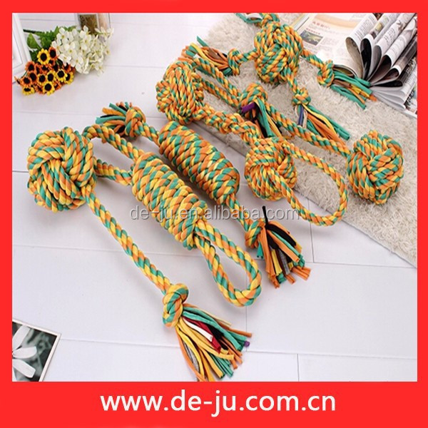 Cheap Yellow String Long Round Cotton String Pet Products Dog
