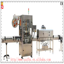 Automatic packaging and labeling machine for bread and meat and maize four food film shrinkjing wrapping