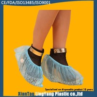 Disposable Skidproof Shoecover PE protective disposable nonwoven running shoe cover