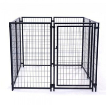 China supplier high quality iron fence double dog kennel