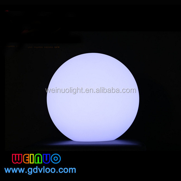 remote control colors changing Solar power rechargeable led pool floating ball light