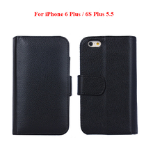 Plus068 Leather Phone Case For iPhone 6 Plus 5.5 , Multifunction Wallet Flip Case for iPhone 6S Plus 5.5