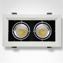 downlight manufacturer triple/double/one head 2*9w surface mounted square downlight led for commercial lighting