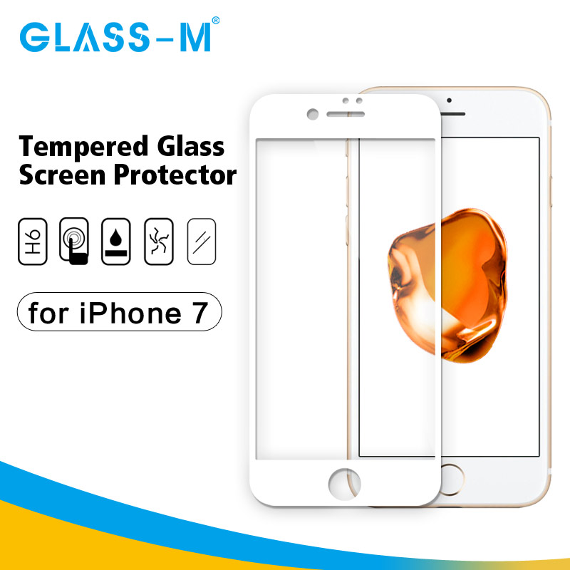 Premium Tempered Glass Cell Phone Screen Cover for iPhone 7 Protector Film
