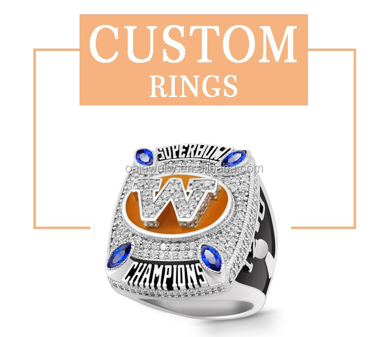 wholesale 3D artwork design fashion common style sports custom ring with czs