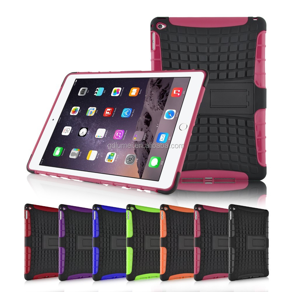 Shockproof Hybrid Dual TPU+PC Heavy Duty Case for Apple iPad Air 2
