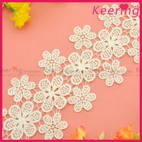 flower white embroidered lace fabric for curtains WLC-281