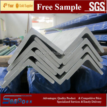 stainless steel supplier ASTM A484 Hot Rolled Annealed and Pickled Stainless Steel Angle Bar