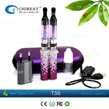 new hot products electronic cigarette clearomizer bottom coil t3 atomizer