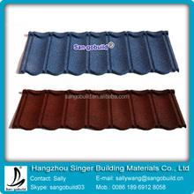 colorful and metal stone-coated roof tile