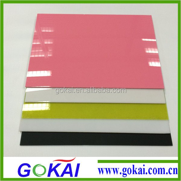 3mm glossy colorful acrylic cast <strong>sheet</strong> supplier