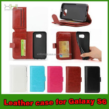 for samsung galaxy s6 tpu leather wallet case cover mobile phone case