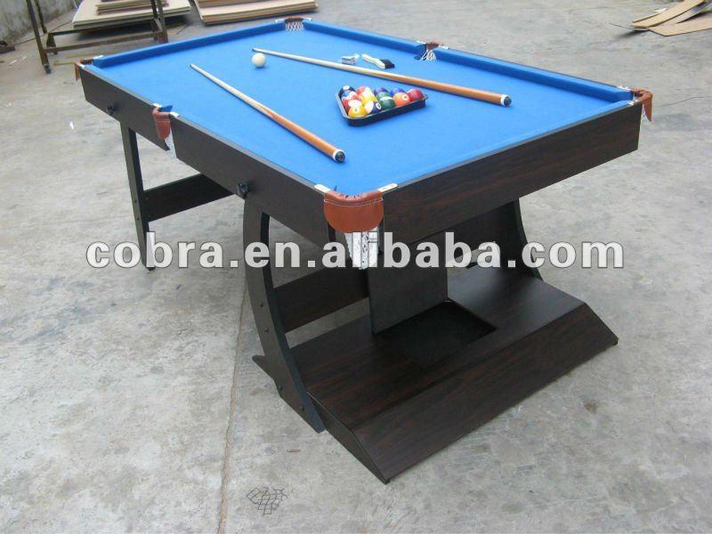 Kbl 08a11 cobra tavolo da biliardo pieghevole tessuto di lana con colore diverso biliardo e - Tavolo da biliardo pieghevole ...