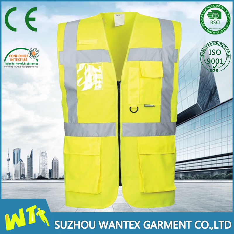 EN20471 certified protection security guard hi reflective vest for wholesale