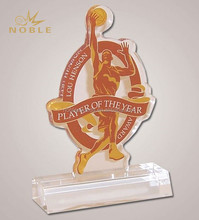 Sports Gifts Custom Color Print Acrylic Awards Basketball Sports Trophy