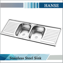 large kitchen sink,double bowl stainless steel sink,1.5mm thickness stainless steel bowl sink