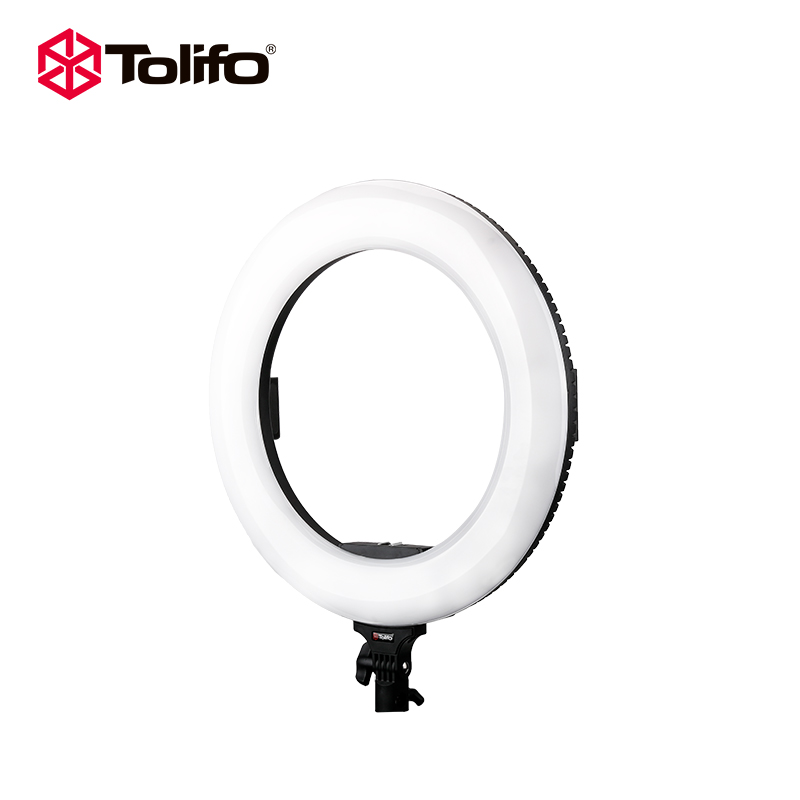 Tolifo Battery Powered 18 Inches Wireless LED Video Beauty Ring Light,Makeup Photo Studio Lighting With Diva Light Mirror