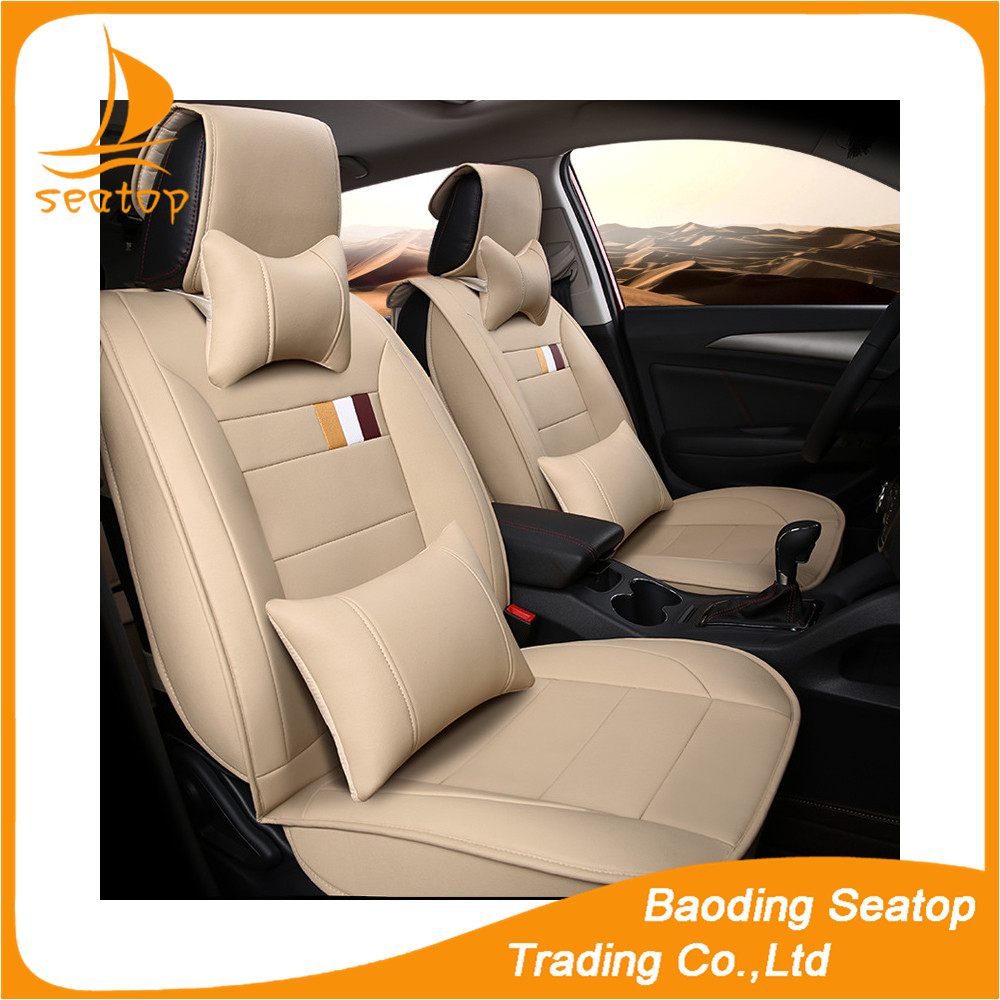 sheepskin car seat cover beige color