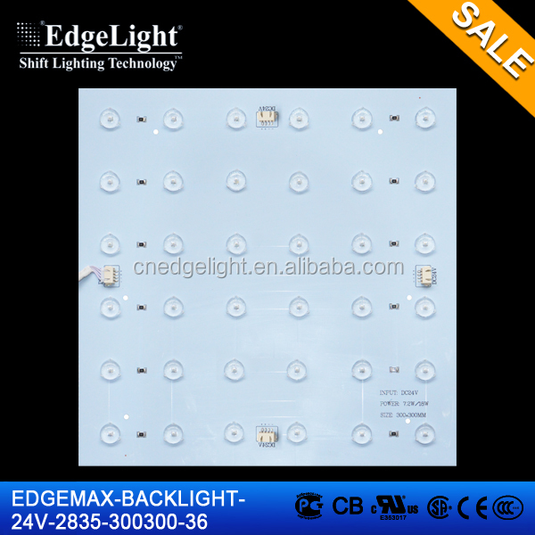 Edgelight backlit PLS-300300-2835 smd 3825 led white /warm white/cool white , backlight good price 3233 smd led module